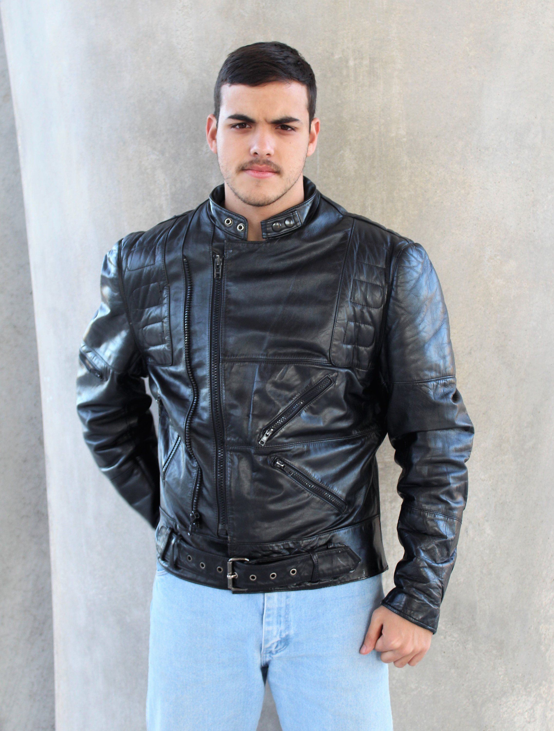 Black Biker Jacket Black Motorcycle Jacket, Streetwear