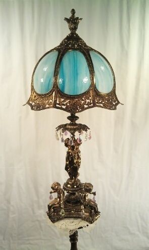 Raretwo stunning italian table lampsmatching pairbent stained raretwo stunning italian table lampsmatching pairbent stained glasscrystal mozeypictures Gallery