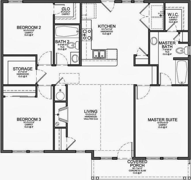 Casa rectangular 60 metros buscar con google for Precio construir casa 120 metros
