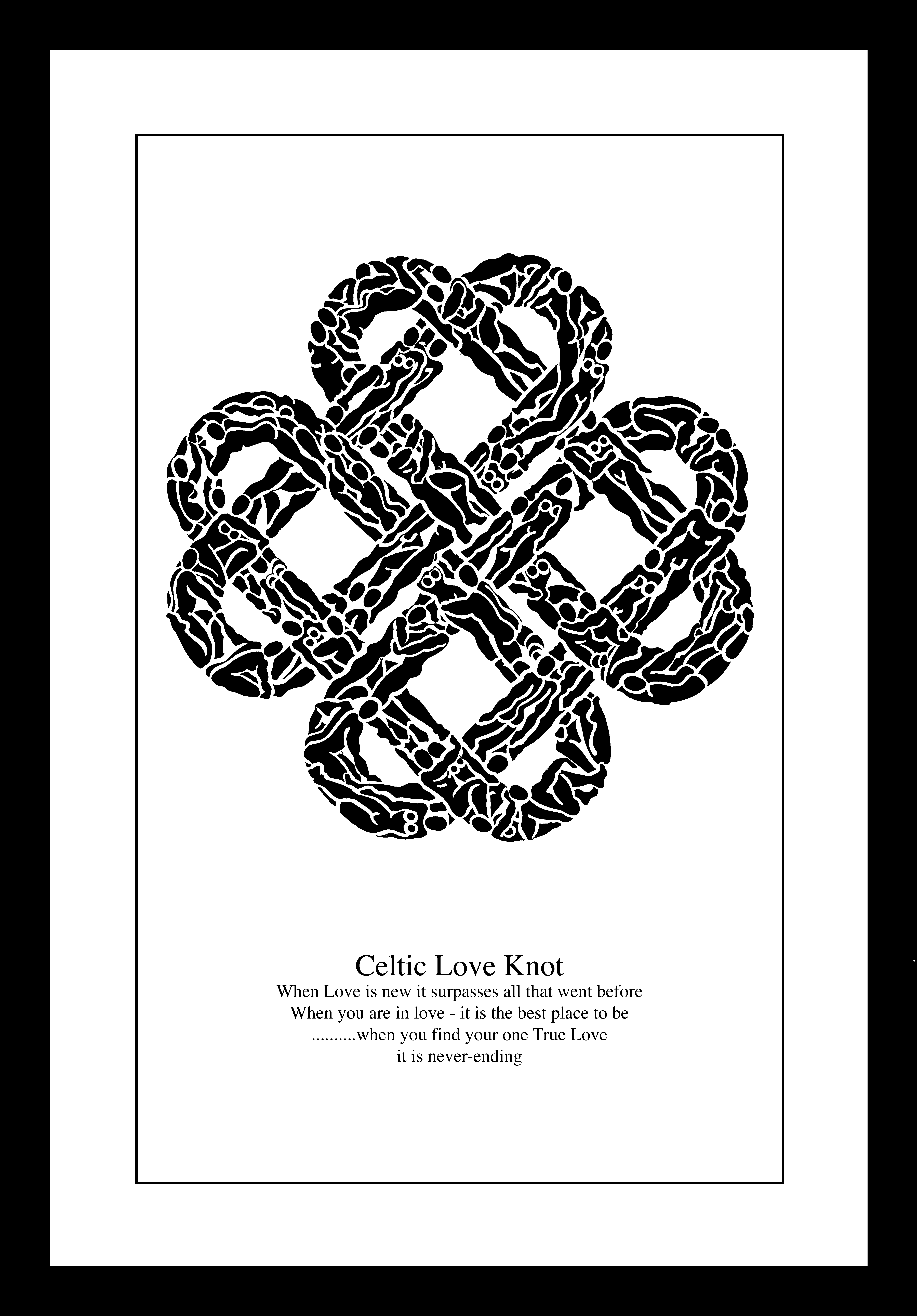 Want this for our house!!  Celtic Love Knot by Anna Nielsen