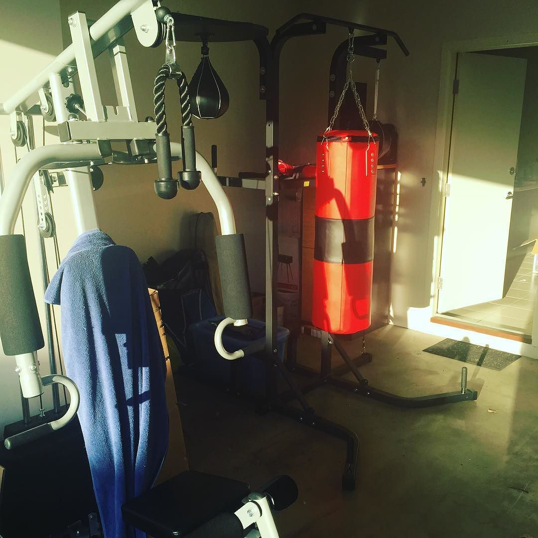My home #gym is ready to #rock  Didn't go for free weights purely