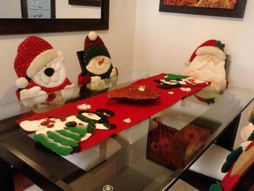 Forros navide os para sillas ideas para el hogar for Decoracion del hogar en navidad