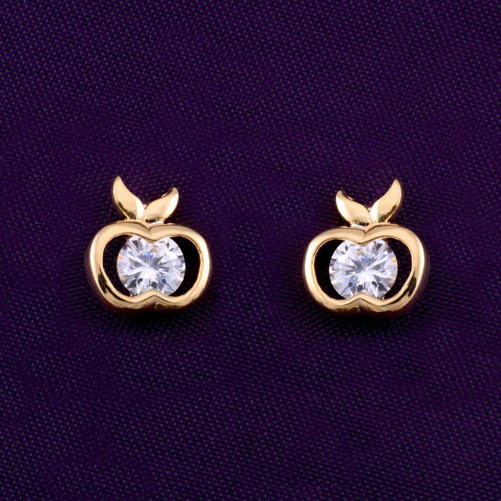 Stud CZ Gold Plated Indian Traditional Ethnic Jhumka/Jhumki Bollywood Earrings #DesaiJewellers #DropDangle