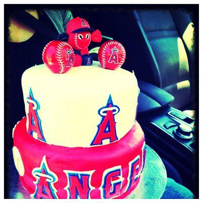 Angels Baseball Cake Sooo 4 My Lil Sis Baseball Cake