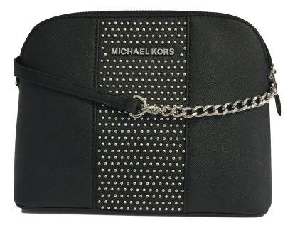 692e19c9fc07e MICHAEL Michael Kors Micro Stud Cindy LG Dome Crossbody Black Large Cindy  Dome Satchel