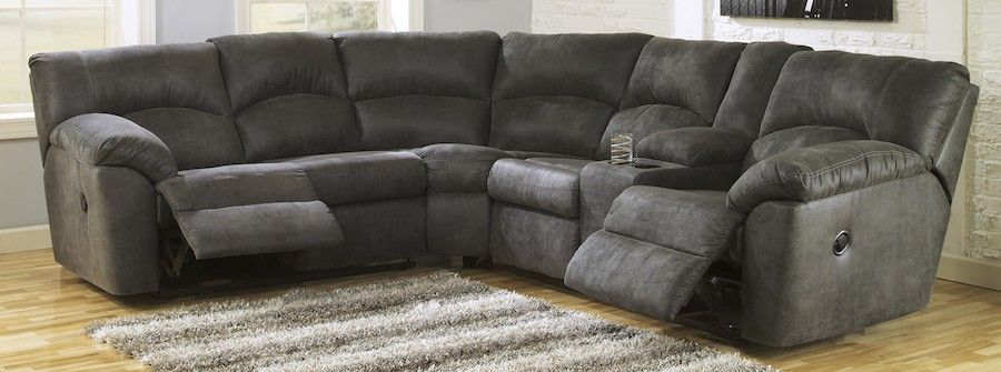 Soft 2 Piece Reclining Sectional in Grey : 2 piece reclining sectional - Sectionals, Sofas & Couches
