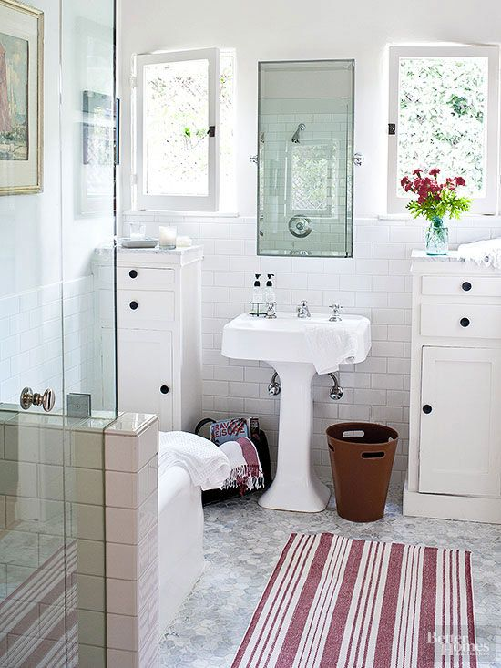 Declutter Your Bathroom  Pedestal Sink Small Bathroom And New Maximize Space In Small Bathroom Design Inspiration