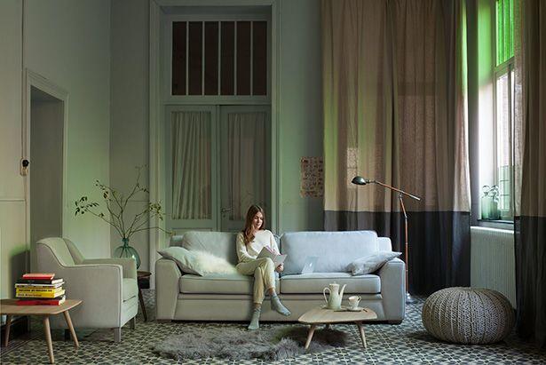 Salon in vele decoratieve stoffen en kleuren mogelijk om uw
