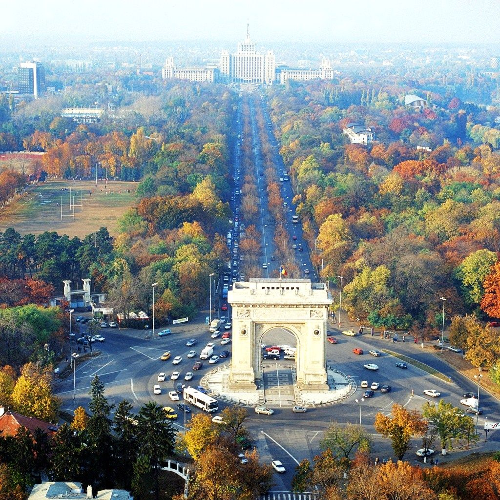 "Fall, in Bucharest - Bucharest was once known as the ""Paris of the East""."