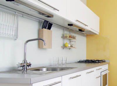 Kitchen Wall Organizer Rail System With Accessories Empty