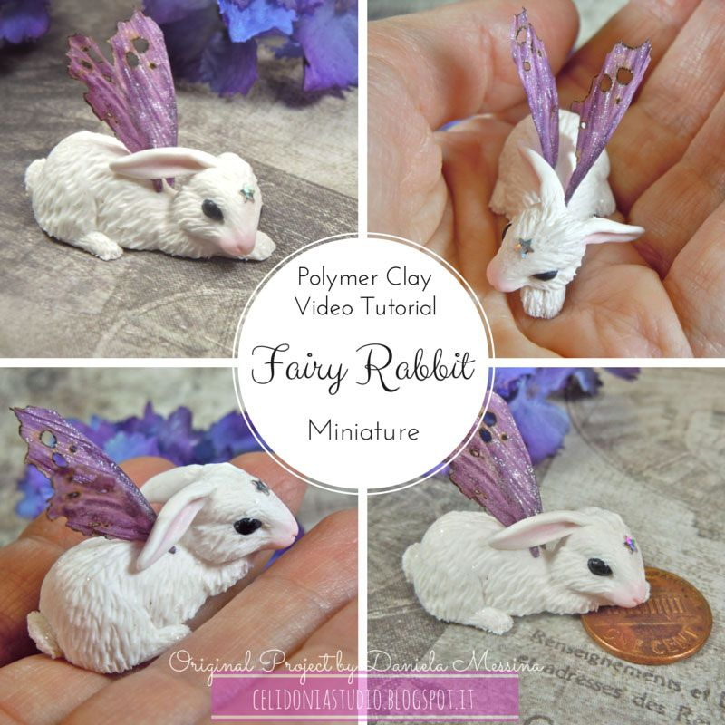 Polymer clay fairy rabbit tutorial by Celidonia