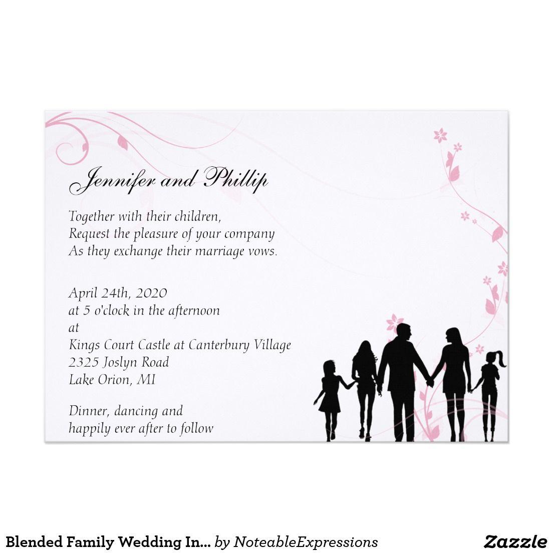 Blended Family Wedding Invitation | Pinterest | Blended family ...