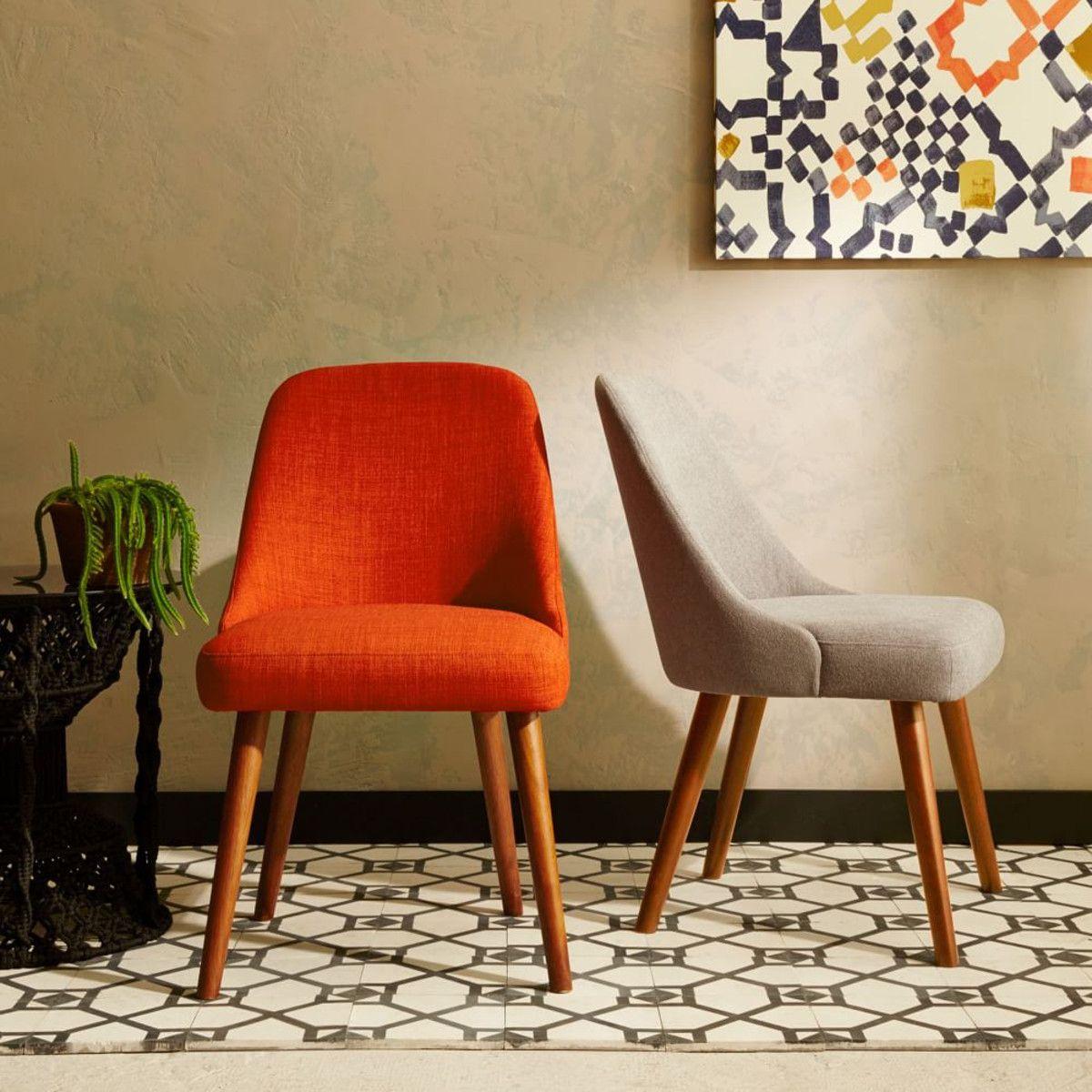 Mid-Century Dining Chairs - Walnut Legs | west elm ...