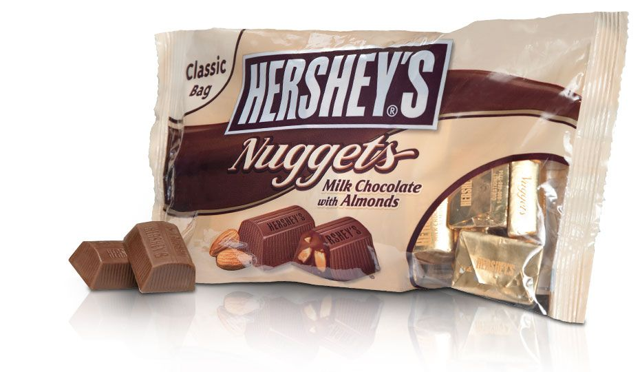 Hershey S Nuggets Milk Chocolate With Almonds Thick And Oh So