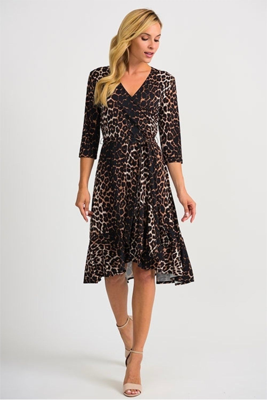 Joseph Ribkoff Beige Black Animal Print 3 4 Sleeve Wrap Dress 201452 New In 2021 Colorful Dresses Joseph Ribkoff Dresses Wrap Dress [ 1500 x 1000 Pixel ]