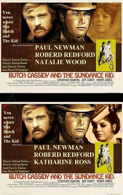 """""""BUTCH CASSIDY AND THE SUNDANCE KIL""""1969   Natalie Wood Candidate; Finally Interpreted: Katharine Ross     Natalie Wood was first offered the role of """"Etta Place"""" but was forced to turn down the role due to her pregnancy."""