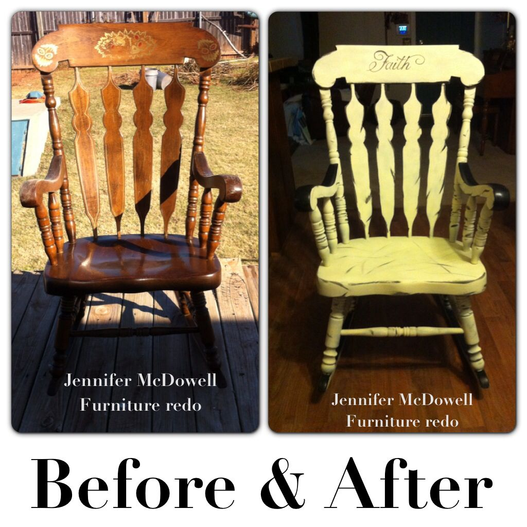 Before After Rocking Chair Makeover ️ My Mom Old Rocking