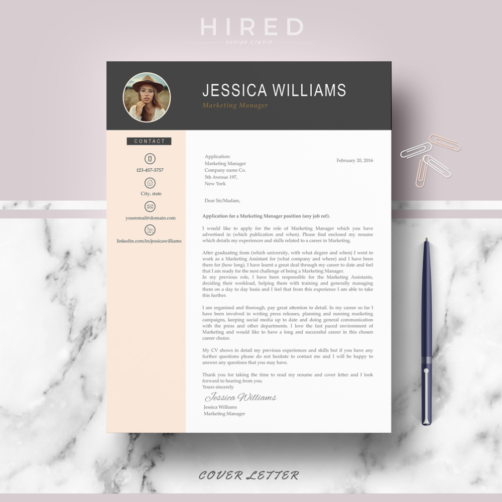 R03 JESSICA WILLIAMS Professional CV Template for Ms