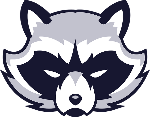 Animal, Rosto, Logotipo, Guaxinim Guaxinim desenho