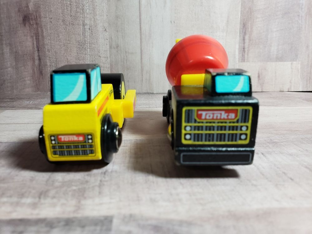 Details About 2013 Tonka Mini Truck Cement Mixer Yellow Red Wooden