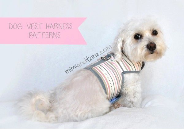 Sew a dog vest harness with this easy pattern. You can make a vest