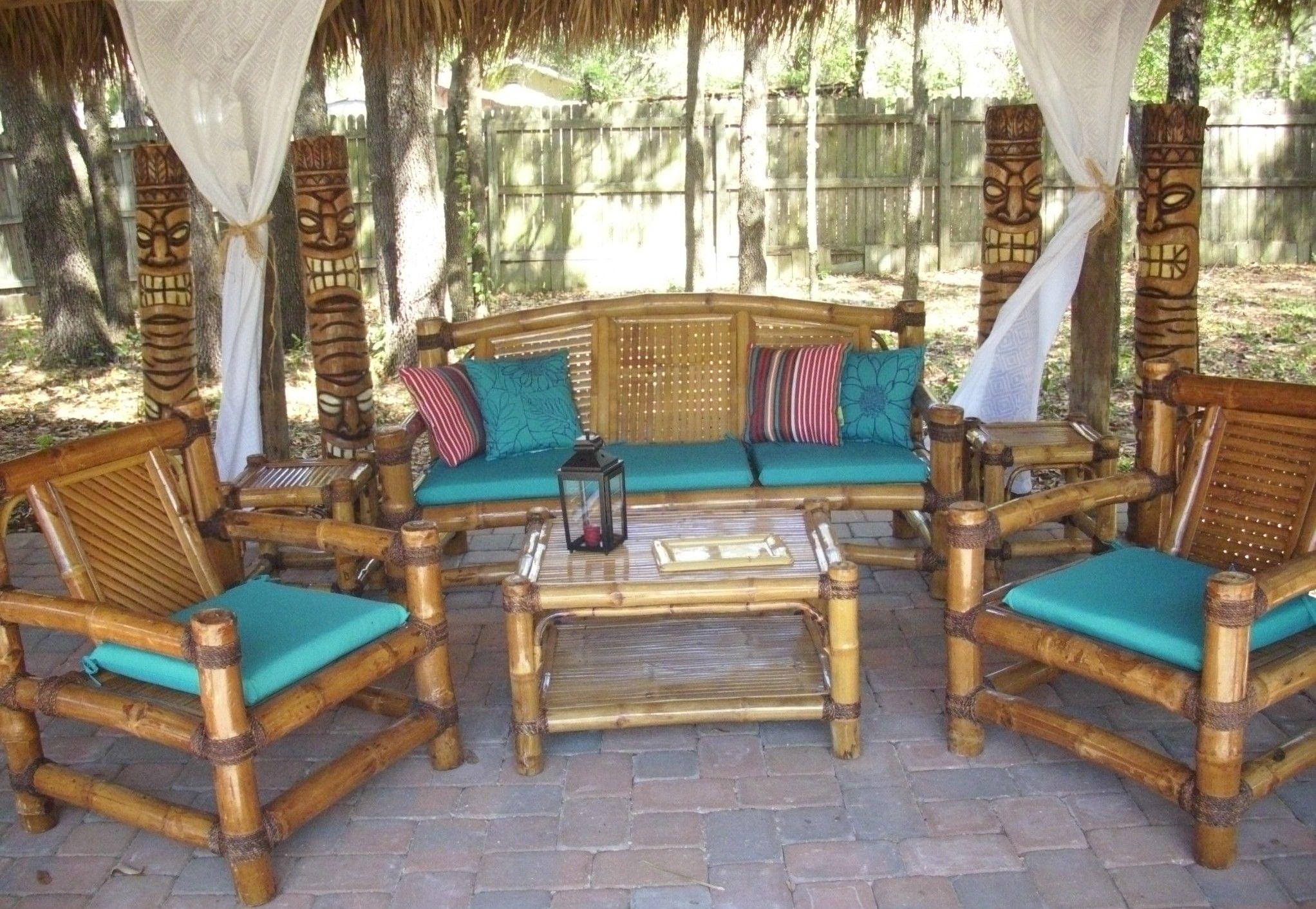 Tropical Garden Furniture Bamboo Tiki Huts Bars Benches ...