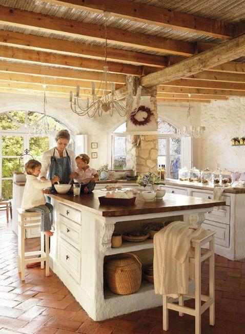 Cocina Cocinas Rusticas Iluminacion De Cocina Rustica Cocinas