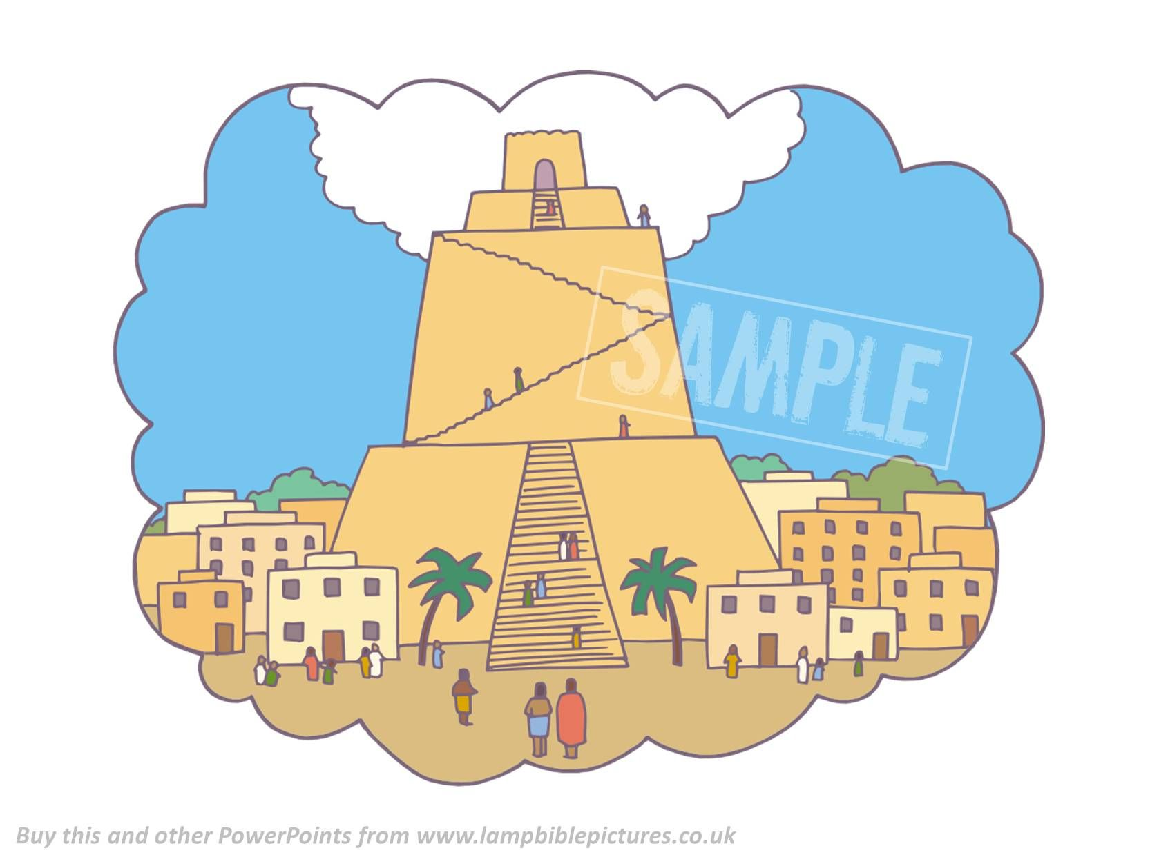 A Bible PowerPoint about the Tower of Babel (Genesis 11). Clear, simple, child-friendly and historically accurate.