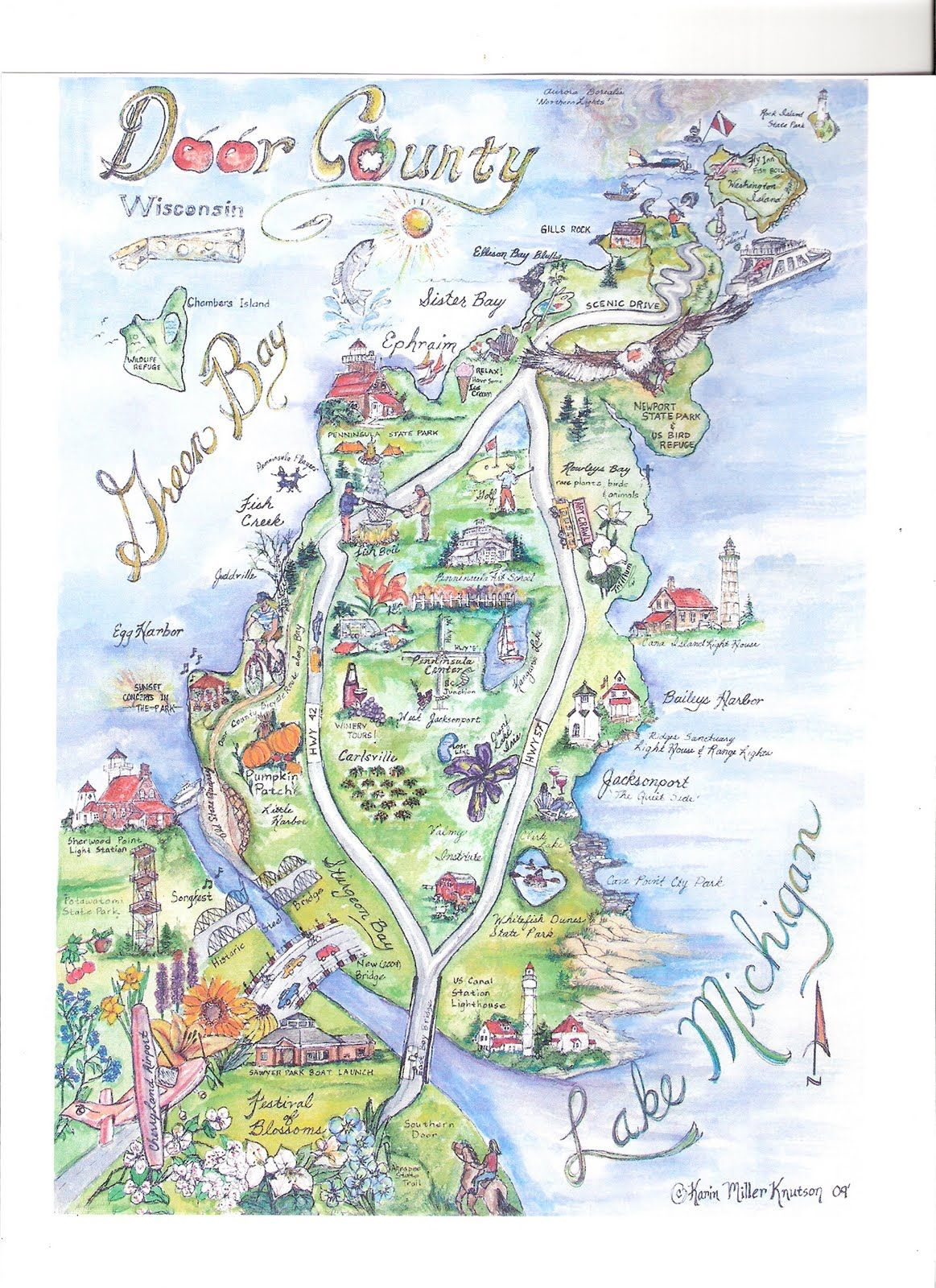 Door County Map Artists Pinterest Door County Map Door - Map co door wi us