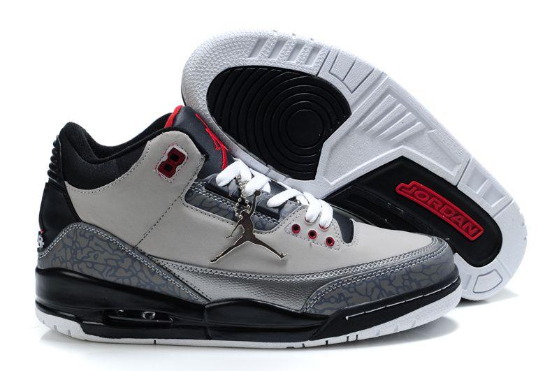 new product aba3c 867e5 Air Jordan 3 Retro Grey Black White