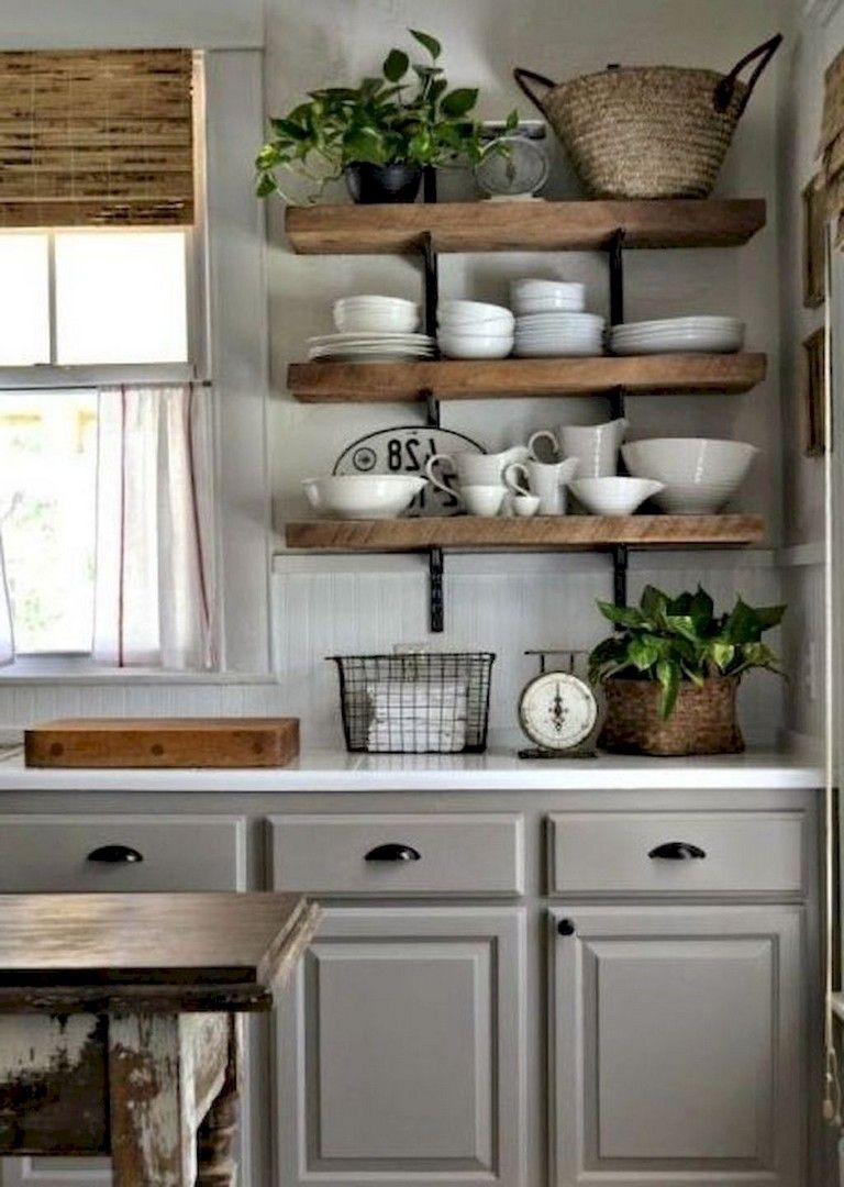Rustic Country Kitchen Cabinets 116+ Stunning Modern Rustic Farmhouse Kitchen Cabinets Ideas