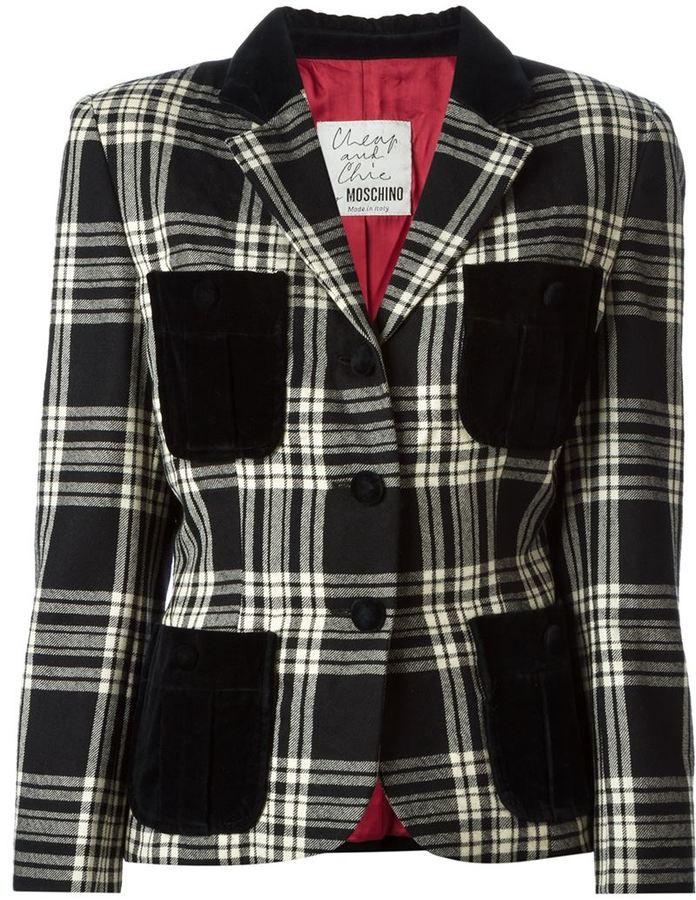 Moschino Vintage tartan jacket - $253.21