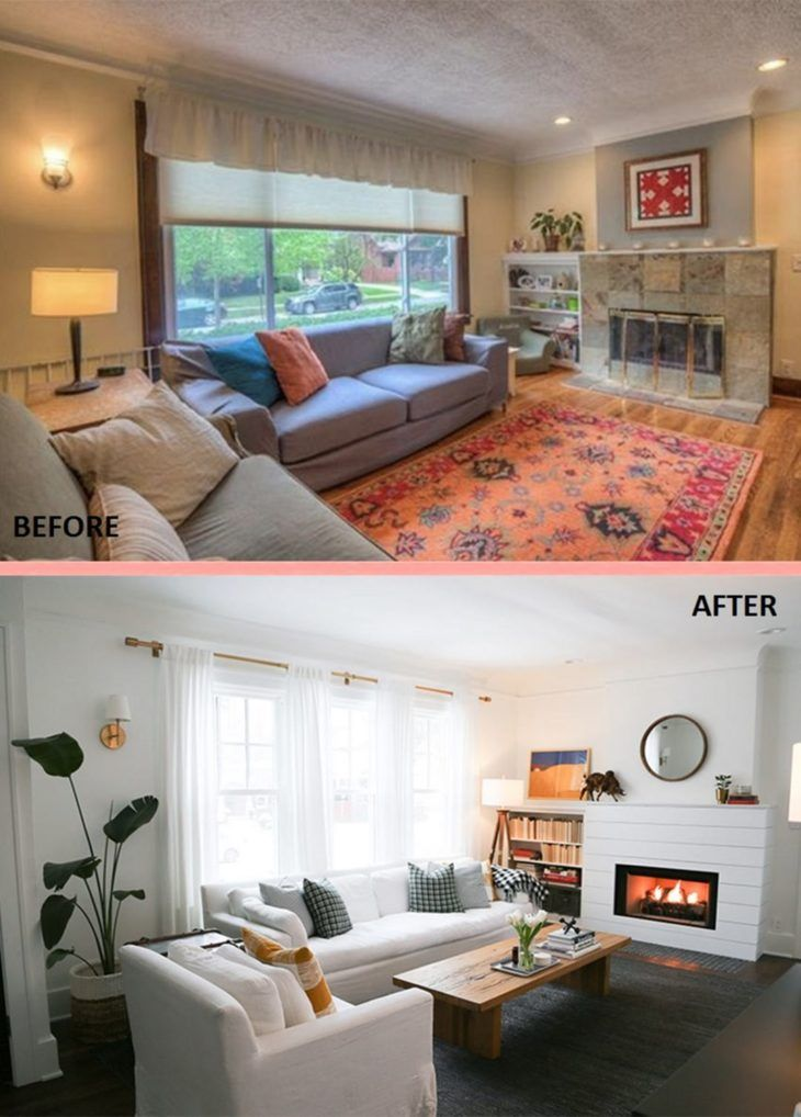 Best 10 Amazing Before And After Living Room Makeovers To 400 x 300