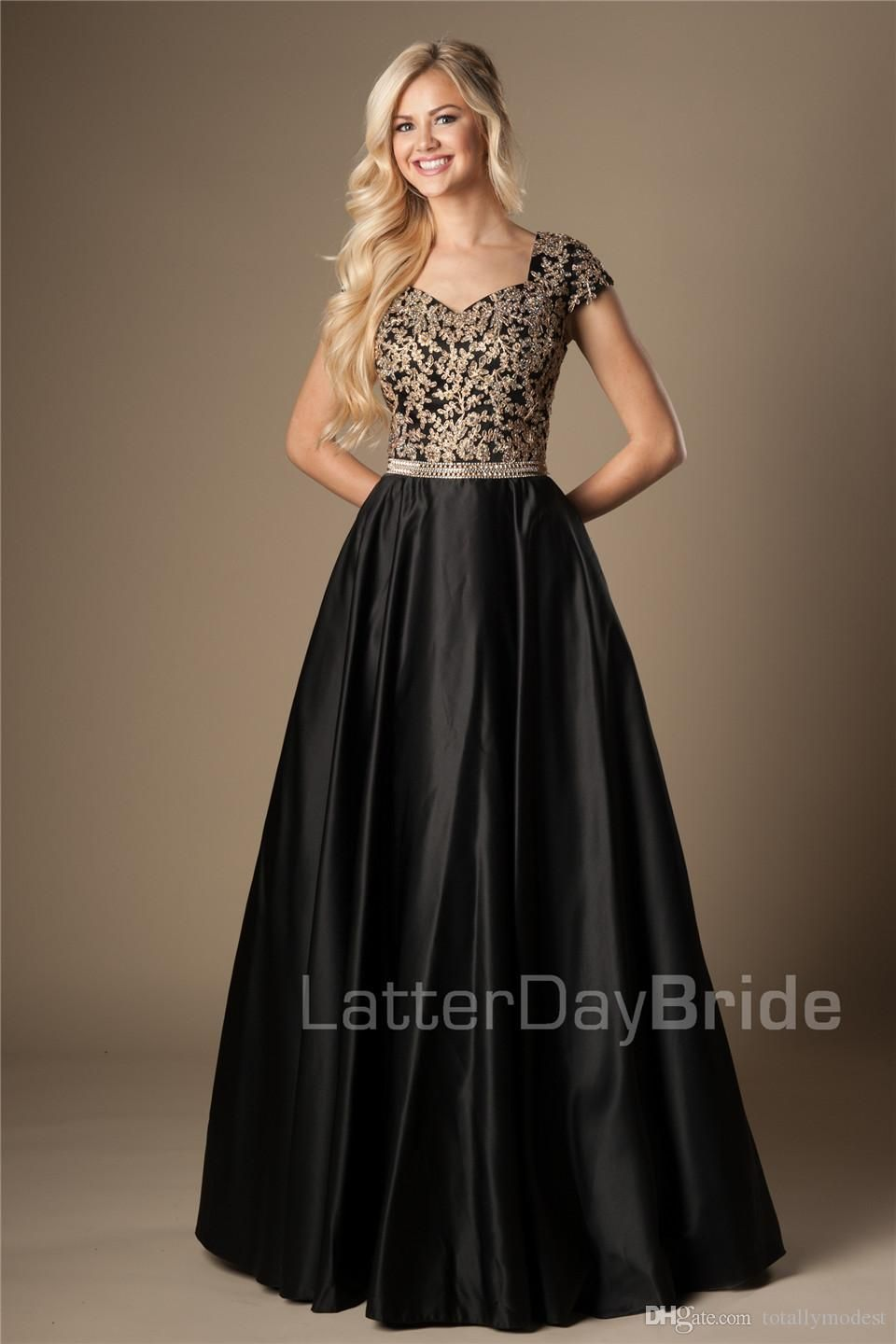 High low red lace prom dresses with short sleeve sheer bateau