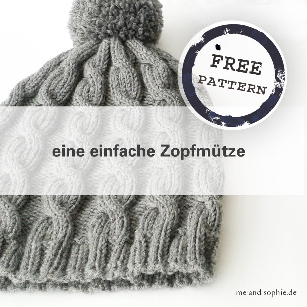 einfache Zopfmütze – Anleitung – | me and sophie | CÓMO SE HACE ...