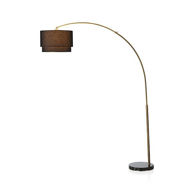 Meryl arc brass floor lamp brass floor lamp floor lamp and crates mozeypictures Images