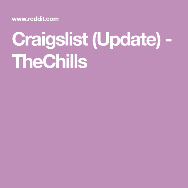 Craigslist Reading - Reading craigslist has altered the ...