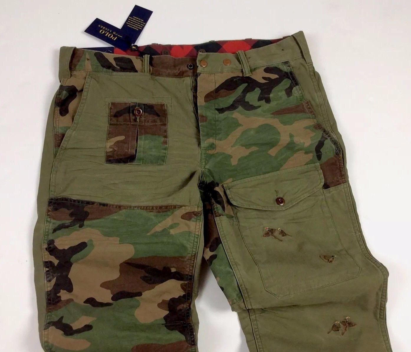 2ce79415a2 ... denmark polo ralph lauren men military army camo patchwork combat  surplus cargo pants ebay 8fc65 8edfe