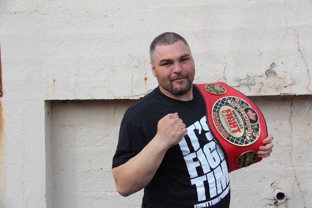 "Local professional MMA fighter D J  ""Da Protege"" Linderman"