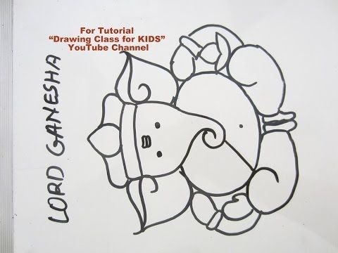 Youtube How To Draw Simple Easy Cute Lord Ganesha Ganpati Drawing