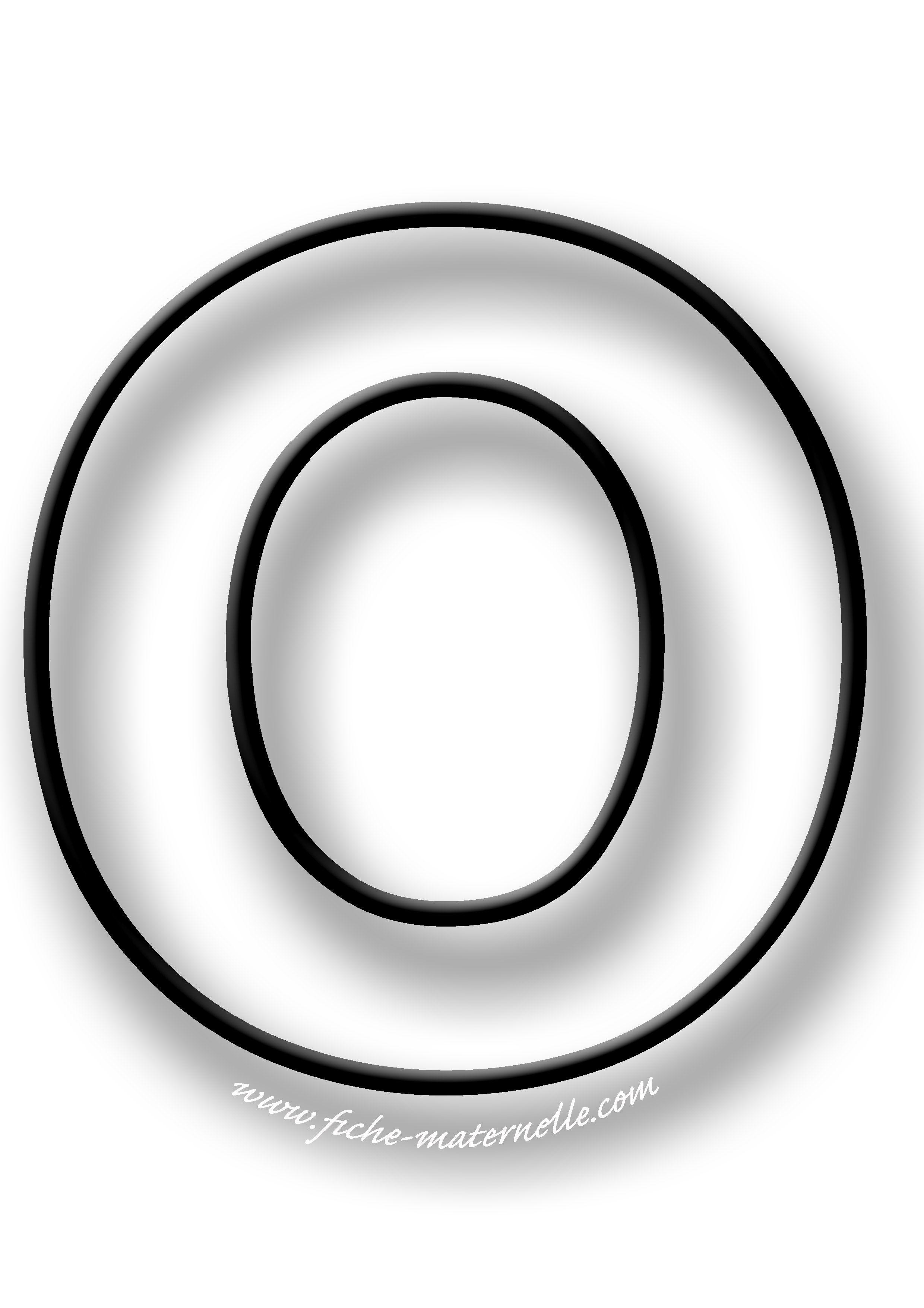 coloriage de la lettre o