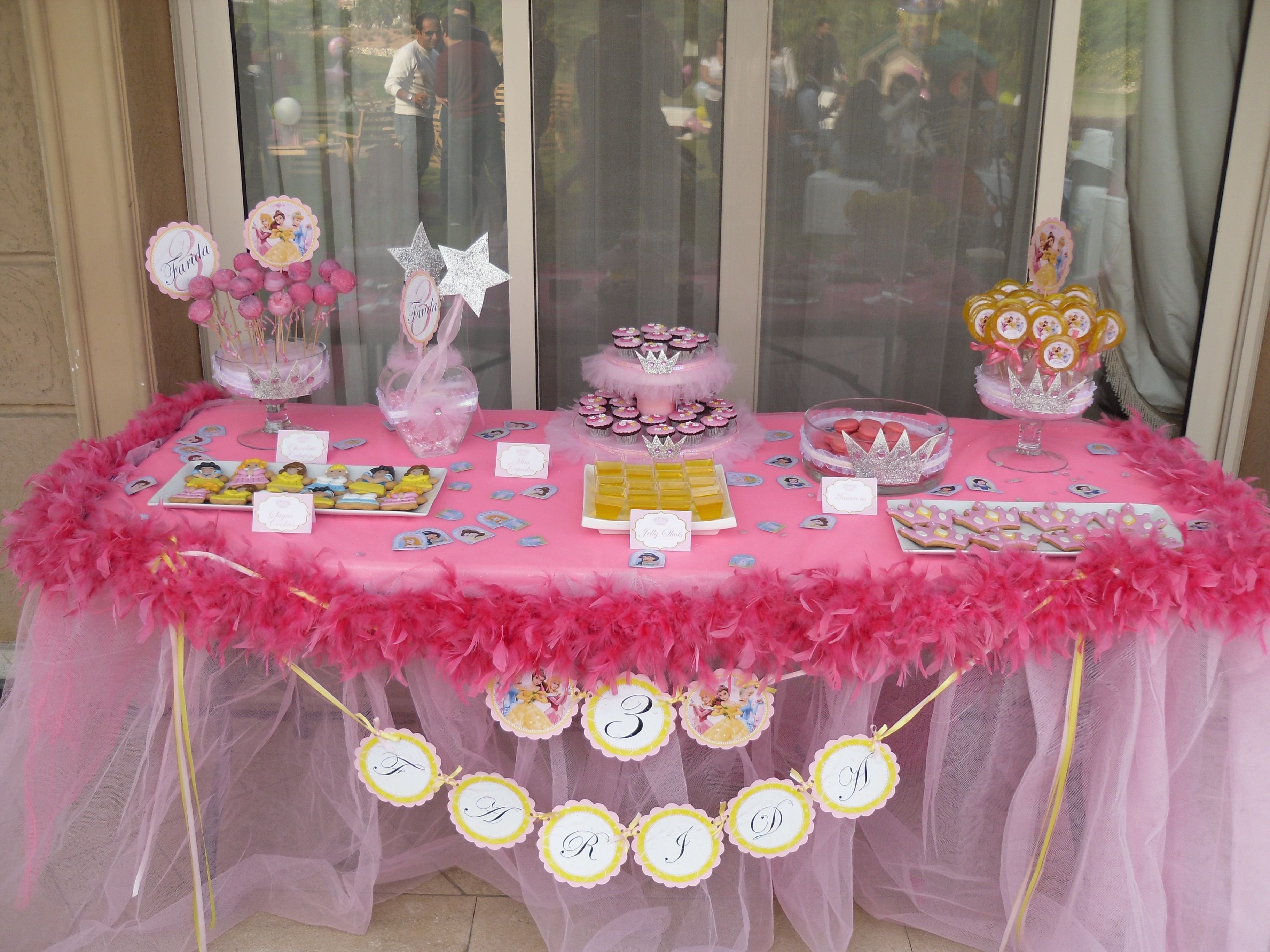 Disney Princesses Candy Table Candy Bar Table Princess Party Candy Table