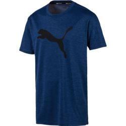 Puma Herren T-Shirt Puma Heather Cat Tee, Größe L in Blau PumaPuma