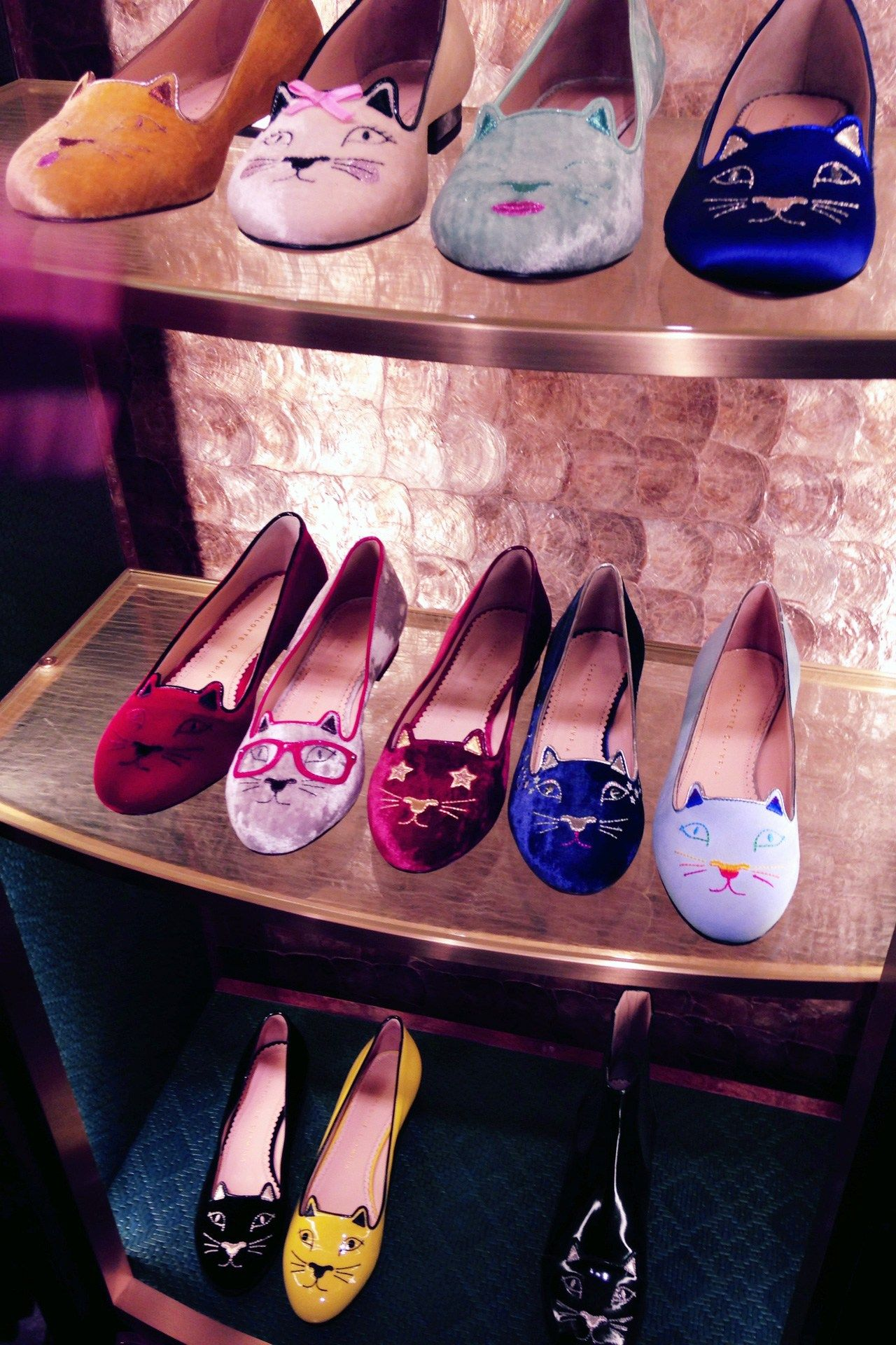 9acf144b293063 Need a pair of these Charlotte Olympia flats.