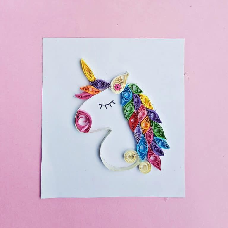 Paper Quill This Magical Unicorn With Our Free Template