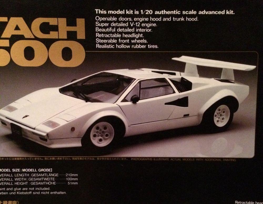 Lamborghini Countach Lp 500 The Memorial Collections 1 20 Model Kit