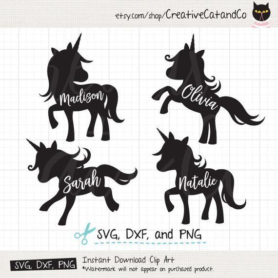 Unicorn Silhouette SVG DXF Cuttable Cute Baby Unicorn Silhouette svg