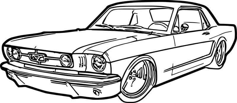 Ford Mustang Car Coloring Page With Images Cars Coloring Pages