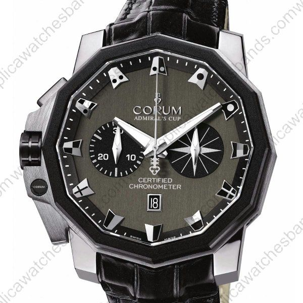 4d5fccd375ae Replica Corum Admirals Cup 50 Chrono Men Watch 753.231.71 0F81 An52  Platinium