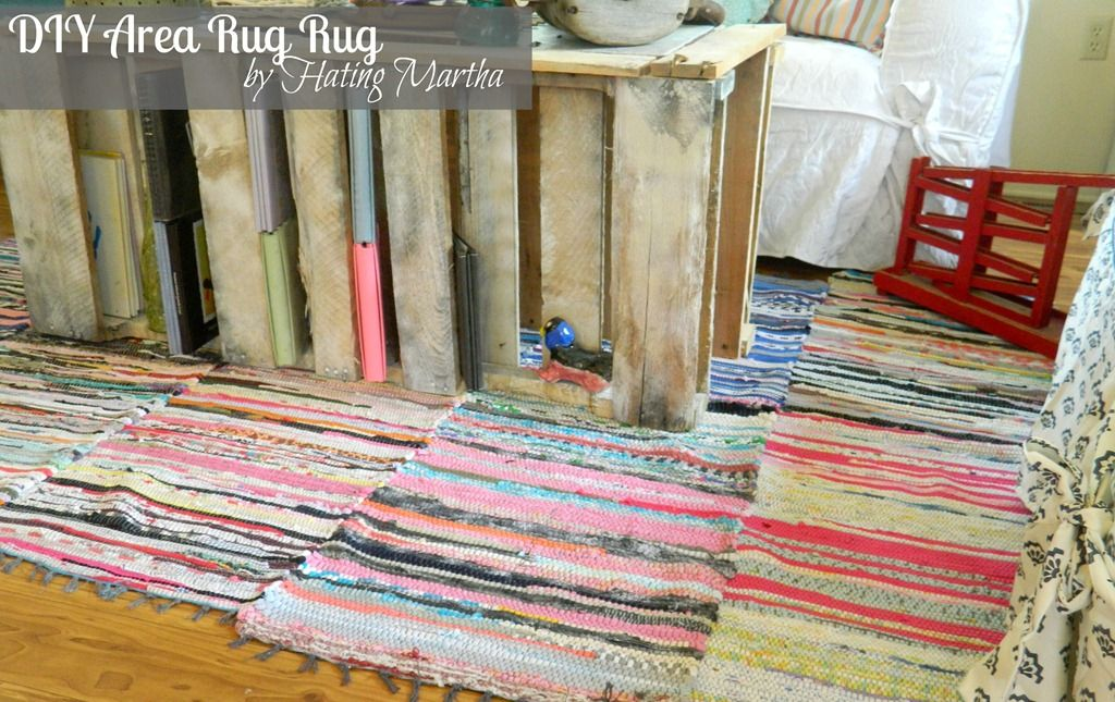 A tutorial on how to create a large area rug using rag rugs, upholstery  thread